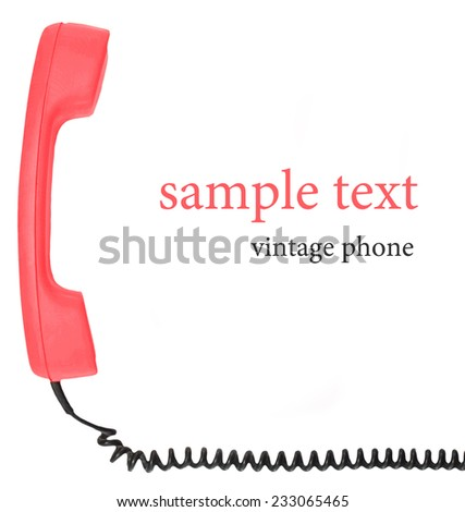 vintage phone isolated white background - stock photo
