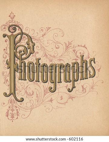 Vintage Photo Album Page - stock photo