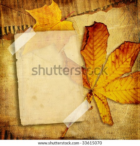 vintage photo album series -autumn - stock photo