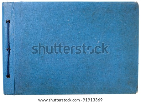 Vintage photo book cover isolated on white - stock photo