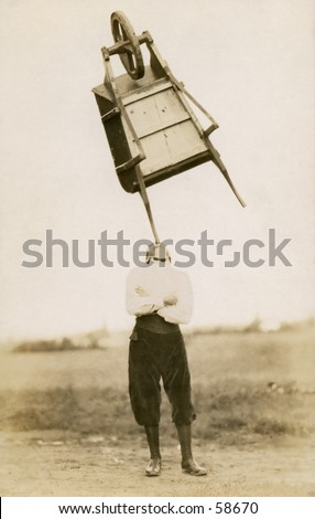 Vintage photo, circa 1900 of a man stand - stock photo