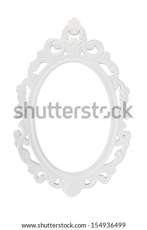 vintage photo frame isolate on white background - stock photo