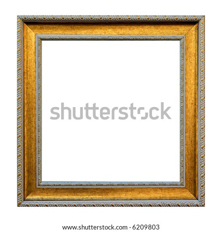 Vintage photo frame - isolated on white background