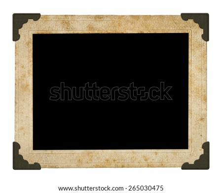 vintage photo frame. Isolated on white background.(Clipping path) - stock photo