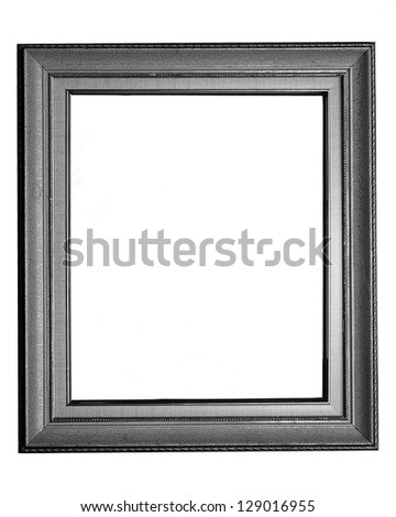 vintage photo frame on white background - stock photo