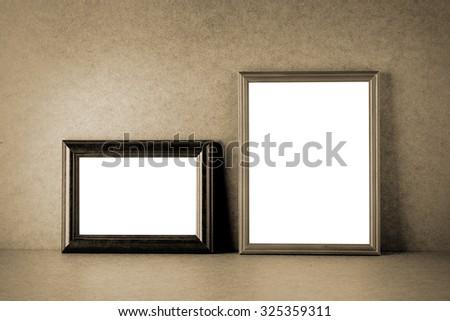 Vintage photo frames - stock photo
