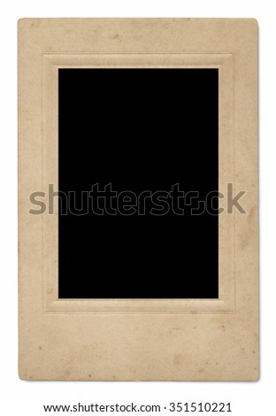 Vintage photo frames or borders, isolated on white.