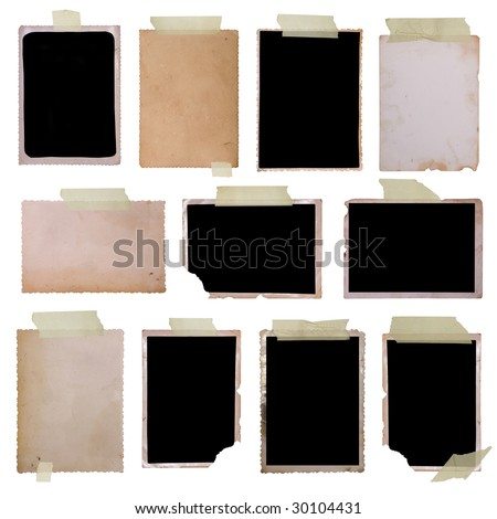 Vintage photo frames set 1, big collection - stock photo