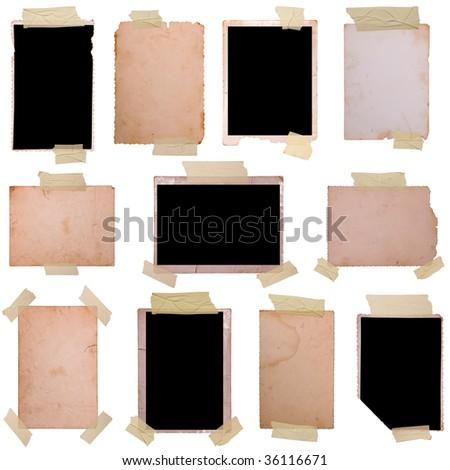 Vintage photo frames set 5, big collection - stock photo