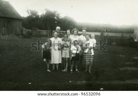 Vintage photo of - stock photo