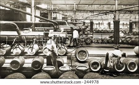 Vintage Photo of a Brewery - stock photo