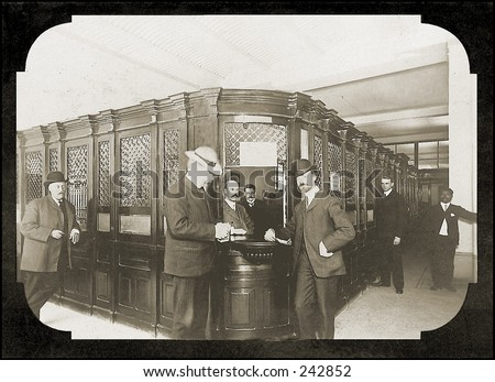 Vintage Photo of an Old Fashioned Bank - stock photo