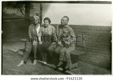 Vintage photo of family (fifties)