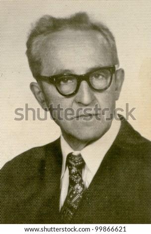 Vintage photo of man (fifties) - stock photo