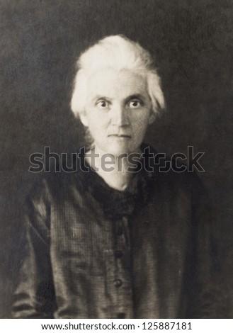 vintage photo of senior women, circa 1930 - stock photo