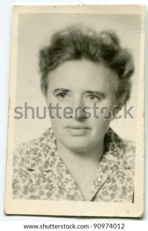 Vintage photo of woman (fifties) - stock photo