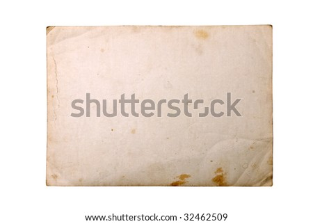 Vintage photo saved whit clipping path, big collection - stock photo