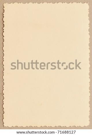 vintage photo with a decorative border - stock photo