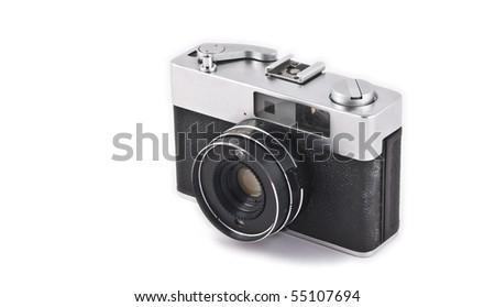 Vintage photocamera - stock photo