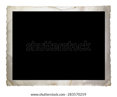 vintage photograph, vector - stock photo