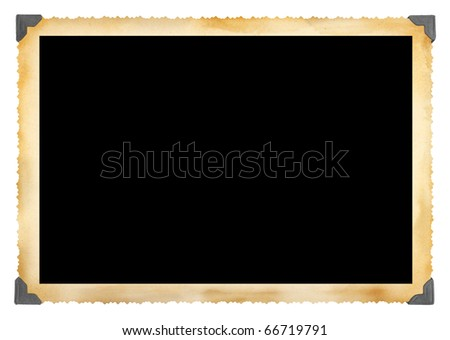 Vintage photographic deckle edged picture frame - stock photo