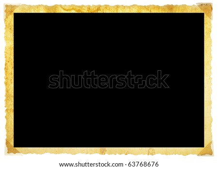 Vintage photographic deckle edged picture frame,grungy free copy space - stock photo