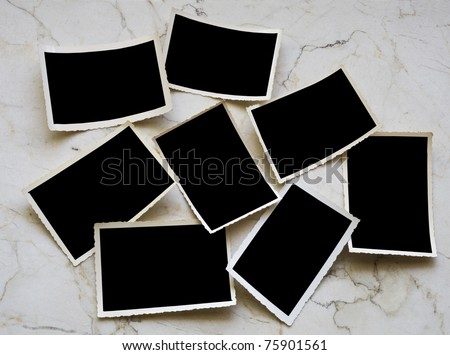 Vintage photographic deckle edged picture frames - stock photo