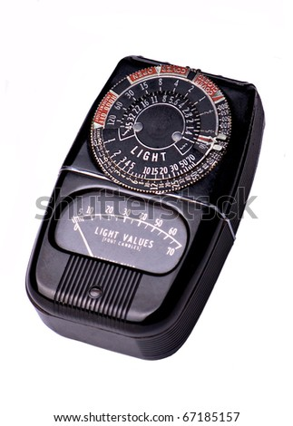 Vintage Photographic Light Meter - stock photo