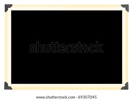 Vintage photographic picture frame - stock photo
