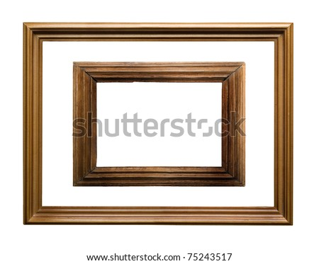 Vintage picture frame - stock photo