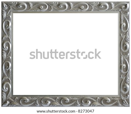 Vintage Picture Frame - Isolated White - stock photo