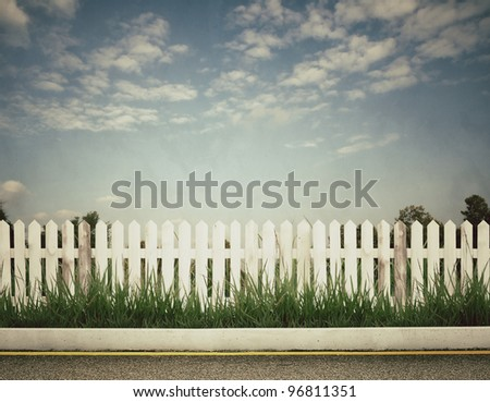 vintage picture of fence