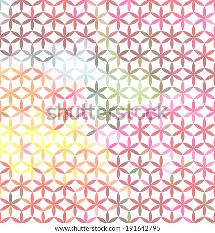 Vintage pink minimalistic background with geometric floral ornament. Raster version - stock photo