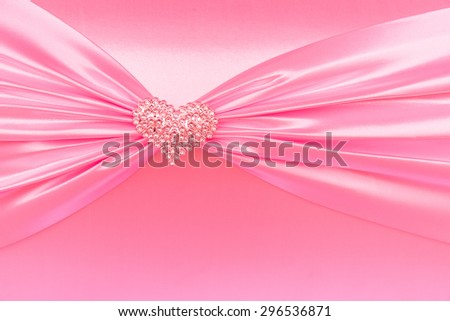 Vintage pink tone handmade love of  gift box wedding or Valentine Day, close-up - stock photo