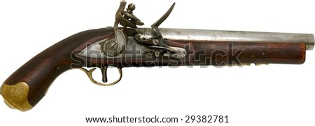 vintage pirate gun isolated on white