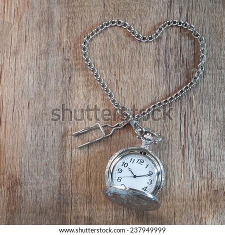 Vintage pocket-watch - stock photo