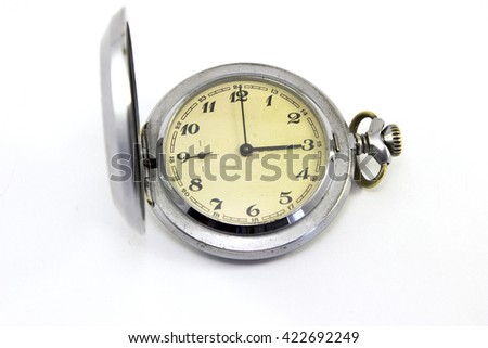 Vintage pocket watch isolated