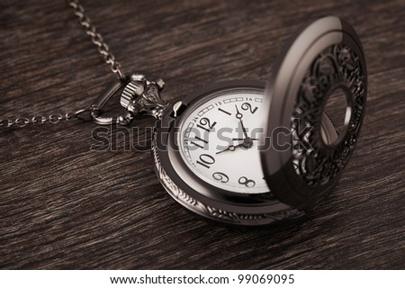 Vintage pocket watch on the chain