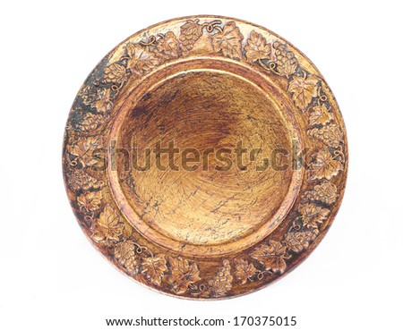 Vintage porcelain plate  - stock photo