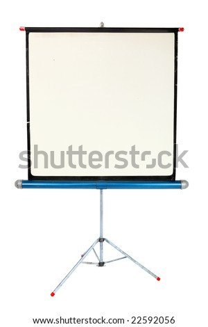 Vintage portable projection screen