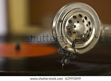Vintage portable record record player