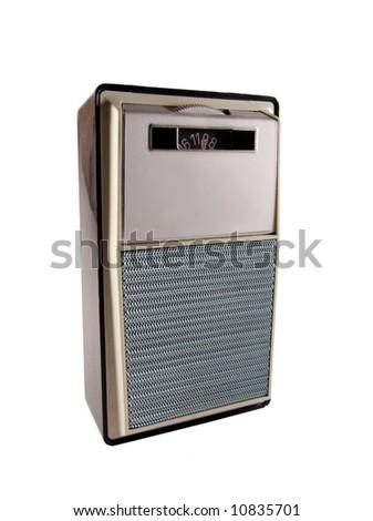 vintage portable transistor radio - stock photo