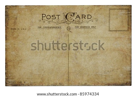 Vintage Post Card - stock photo