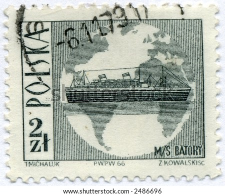 vintage postage stamp world ephemera poland
