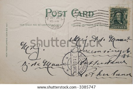 Vintage postcard of 1908 with address in Netherland