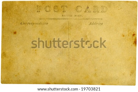 Vintage postcard on white background.