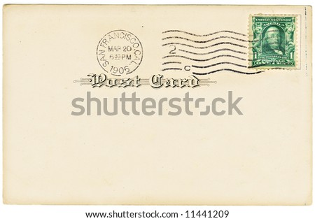 Vintage postcard with a one cent stamp. Room to add your own message.