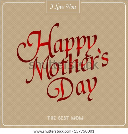 Vintage Poster Art - Happy Mothers Day - stock photo