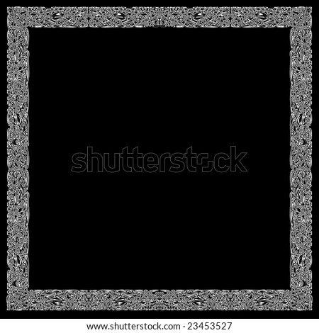 Vintage printed frame, beginning of XX century. - stock photo