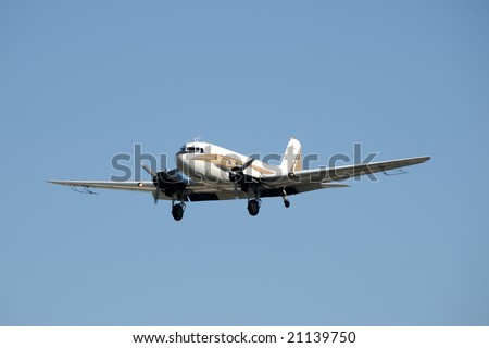 Vintage propeller airplane used as crop duster - stock photo
